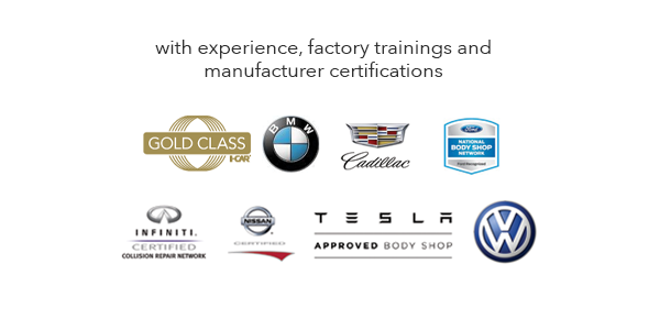 Certified Collision of Long Island in Freeport, NY is a high end independent Tesla Trained and Certified body shop in NYC, and also Volkswagen, Acura Honda, Nissan Infiniti, Fiat Chrysler Jeep, and Ford F150 aluminum certified.