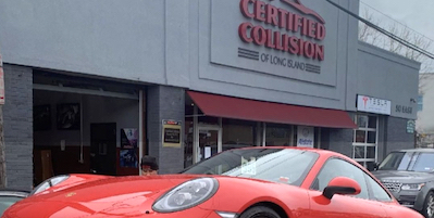 Certified Collision of Long Island, in Freeport, NY is our Tesla Certified partner shop.